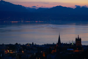 Lausanne by night