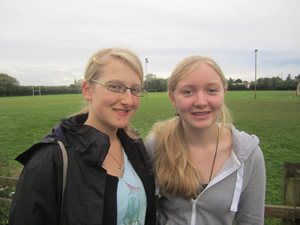 Ellie (right) with her German exchange partner Alina