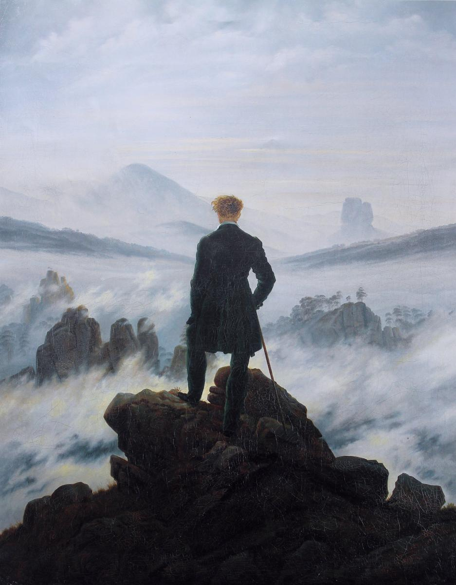 Friedrich - Man on cliff